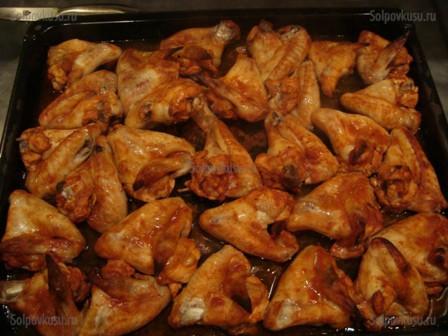 Крылья барбекю в духовке рецепт пошагово