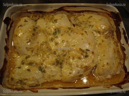курица в сливочном соусе в духовке с картошкой