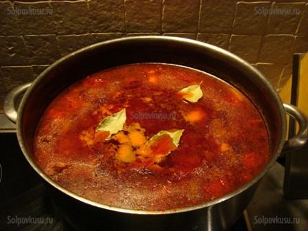 Сварить борщ красный пошаговый рецепт фото